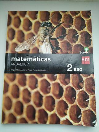 Libro Matemáticas 2 de ESO Edit. SM Andalucía.