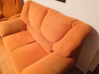 sofa dos plazas naranja