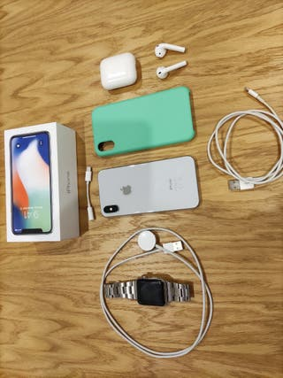 IPhone X 256+Watch 3 acero 42+Airpods series 2