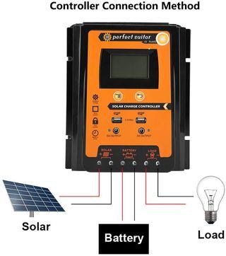 Controlador de cargador solar MPPT Panel Regulador
