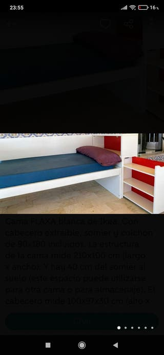 cama cabecero infantil FLAXA ikea