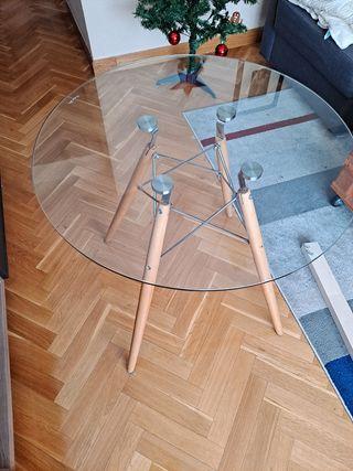 Mesa redonda cristal templado