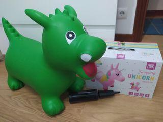 unicornio hinchable bebé