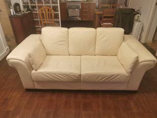 sofa de piel de dos plazas
