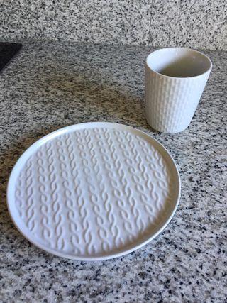 Set cerámica Plato + Vaso