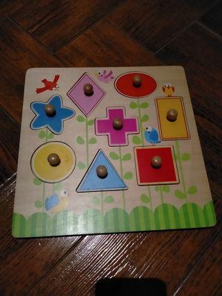 Puzzle figuras geométricas de madera