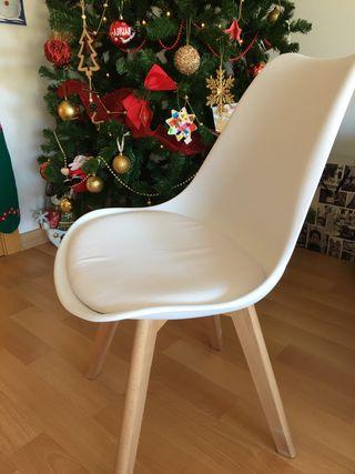 2 sillas nórdicas blancas NUEVAS SIN ESTRENAR