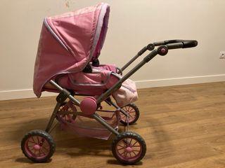 Carrito de muñecas rosa, ideal