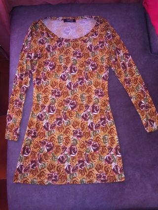 Vestido de punto floreado Marca Karla Design