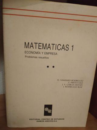 Matemáticas 1, economía y empresa, problemas resue