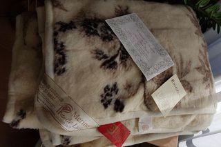 Manta 100 % de lana merino con certificado