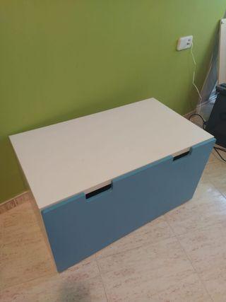 Cajón,mesa y silla, mecedora, silla alta para mesa