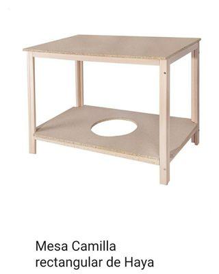 Mesa camilla rectangular 110Lx65Ax 68 alto.