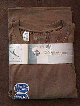 Camiseta manga corta color caqui marca Domyos