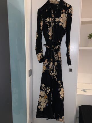 Vestido flores Massimo Dutti