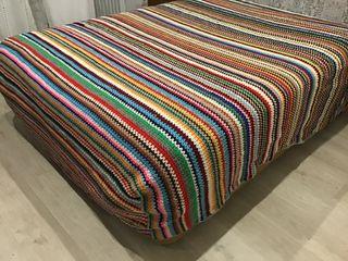 Manta grande. Crochet. Años 60. 2,35x2,50.