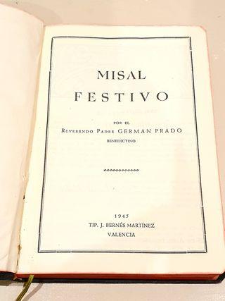 Misal Festivo 1945 libro religioso