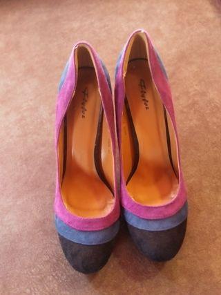 Zapatos de Tacón tricolor marca Flyfoz