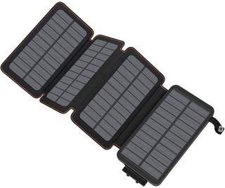 CARGADOR SOLAR POWERBANK 25000mAh 4 PANELES SOLAR
