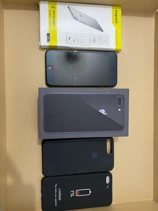iPhone 8 Plus, 2 fundas y 1 protector de pantalla