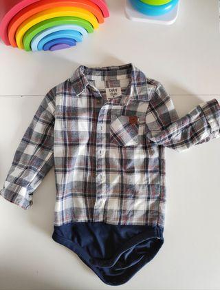 Body camisa bebé 12 meses