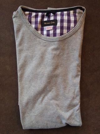 Camiseta manga corta gris marca Massimo Dutti