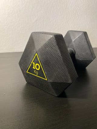 Mancuerna Pesa Hexagonal Hex Dumbble 10 kg
