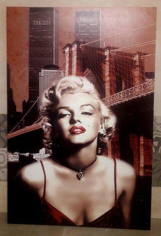 Fotografía sobre lienzo Marilyn Monroe talla 90x60