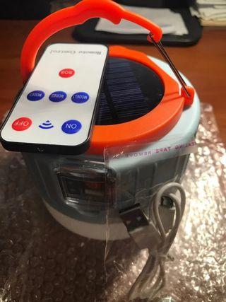lámpara solar cargador USB