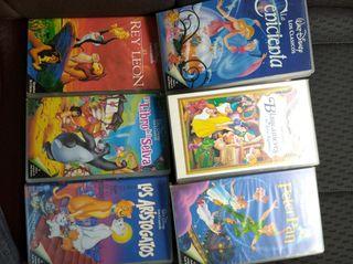 Lote de 8 películas VHS Disney