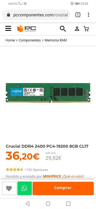 Memoria Ram 8gb 2400 mhz