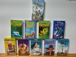 Lote 10 películas originales VHS