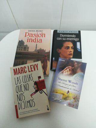 Lote de 4 novelas.