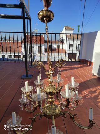 lampara antigua de salón