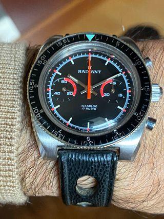 Reloj vintage cronógrafo Radiant Landeron 149
