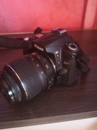 Camara reflex Nikon D90 + objetivos