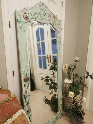 Espejo, decora, dormitorio, vestidor, pasillo, bañ