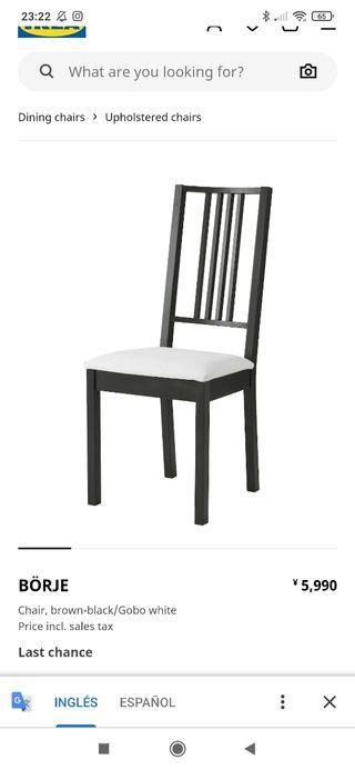 4 sillas börje IKEA