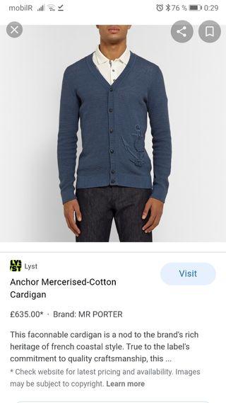 Cardigan de algodón mercerizado Faconnable