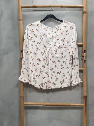 Camisa flores Mango