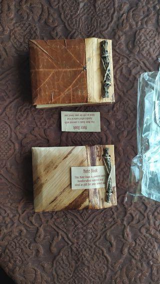 Álbum, agenda papel reciclado yhojas