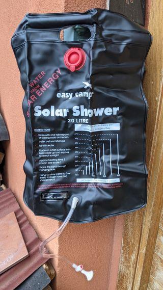 Ducha camper solar