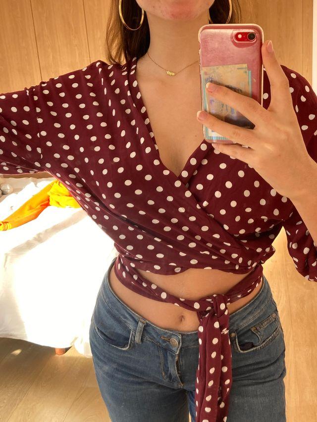 Blusa topos Zara