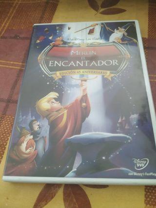 DVD MERLIN EL ENCANTADOR WALT DISNEY
