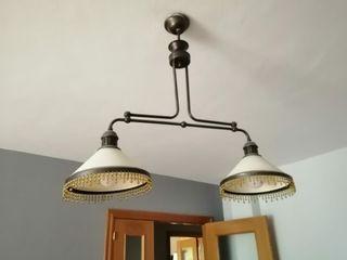 OPORTUNIDAD! Preciosa lámpara billar o salón forja