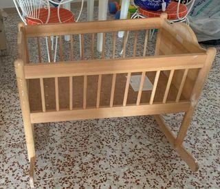 Minicuna madera balancín