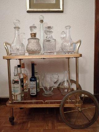 Carrito bar. Mueble bar vintage.