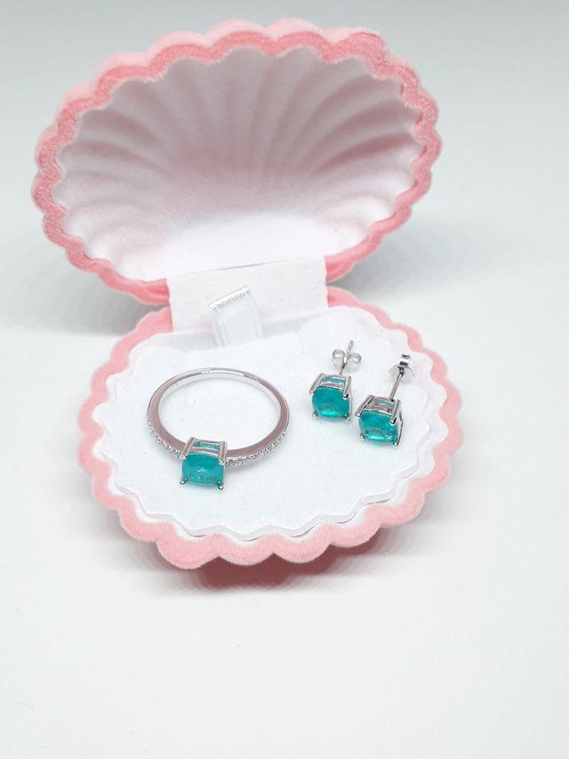 Brazilian Paraiba Tourmaline Jewelry Set 925