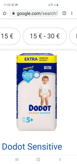 vendo pañales dodots sensitive t5