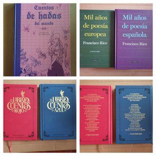 Libros de cuentos y de poesías